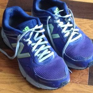 New Balance athletic shoes Sz 11 purple neon green
